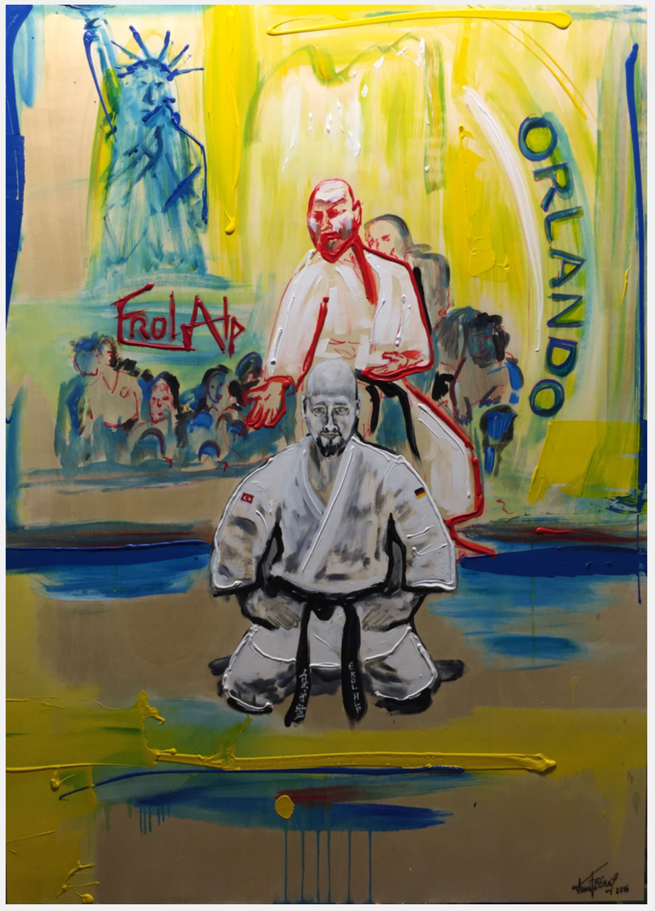 Eine Hommage des Künstlers Bernd Knibernig an den Kampfkünstler Erol Alp