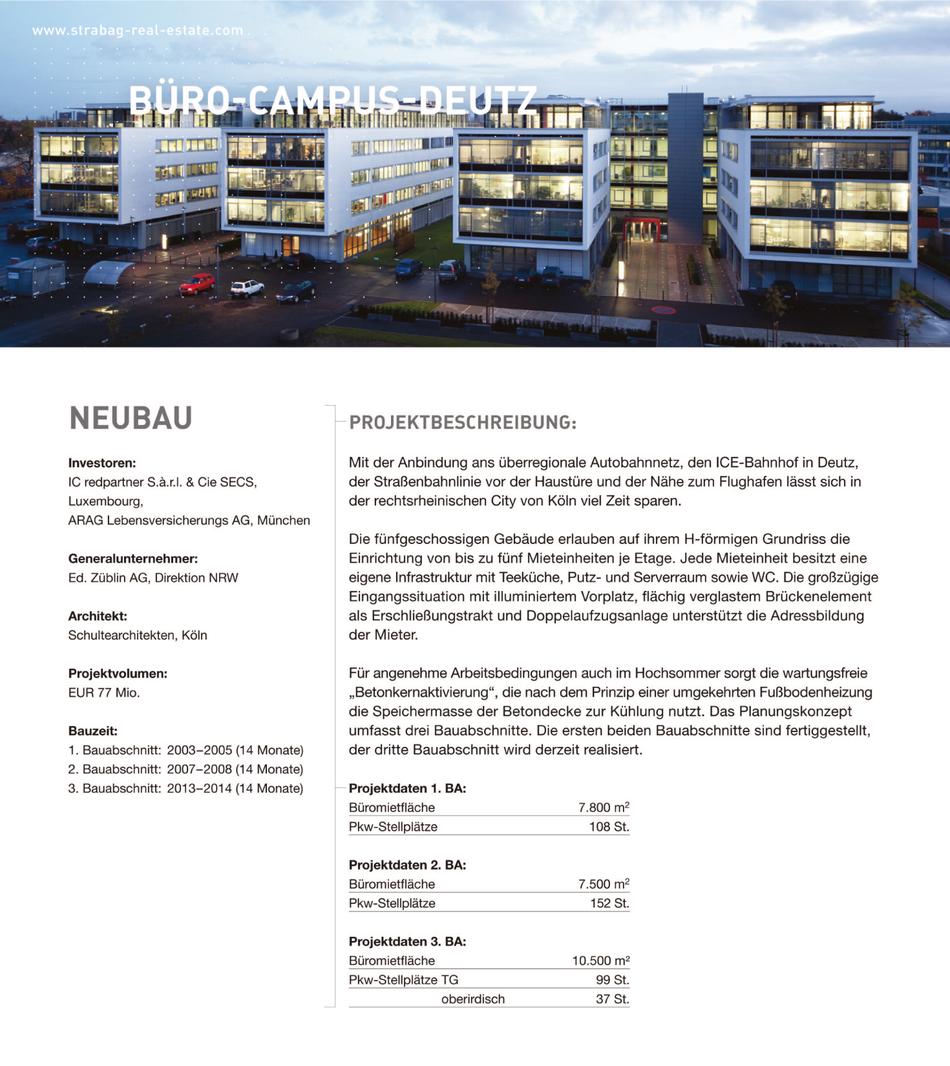 Büro•Campus•Deutz Projektbeschreibung