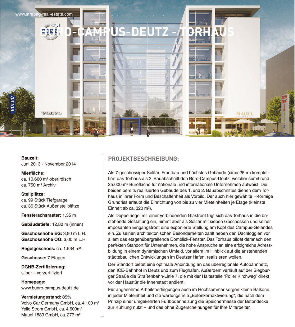 Büro•Campus•Deutz – Torhaus, Projektbeschreibung