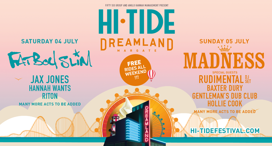 Hi-Tide Festival, just one of Dreamland's many huge events in 2020. Image: via dreamland.co.uk