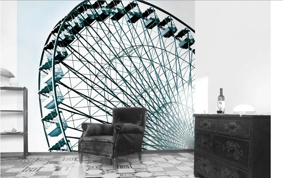 Tapete The Wheel - Riesenrad Tapete von time to GOHOME