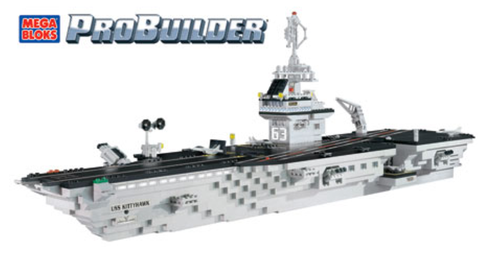 Megabloks building bricks USS Kitty Hawk aircraft carrier lego compatible