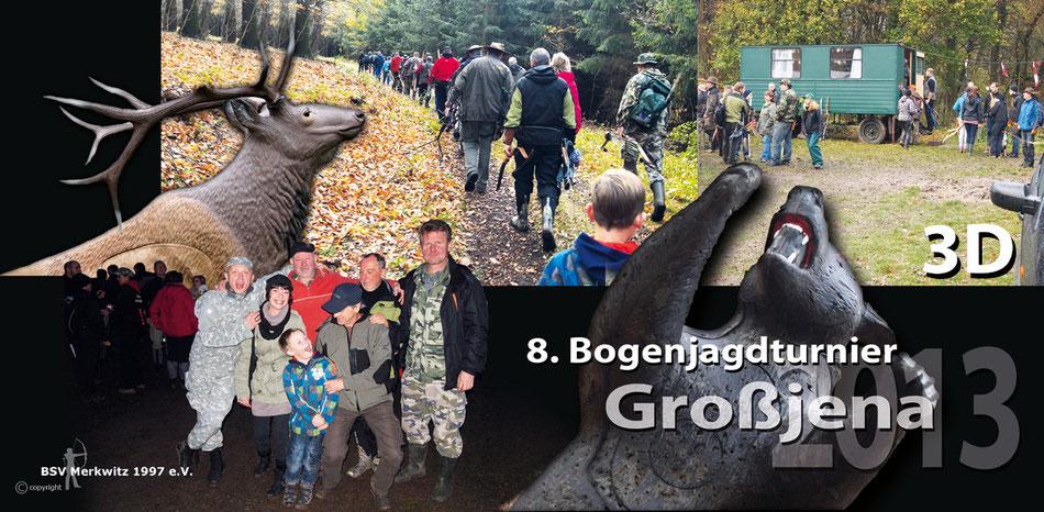 8. 3D Bogenjagd-Turnier 2013 in Großjena