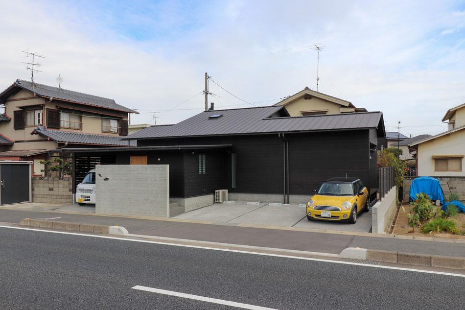 国道沿いの平屋 岡山の建築家・岡山の建築設計事務所