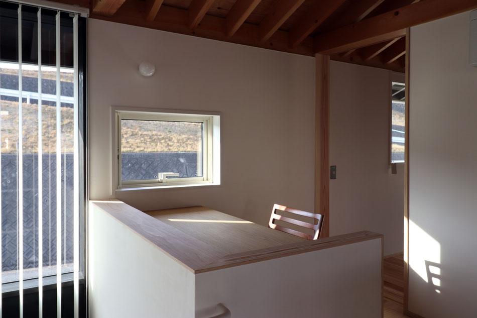 ご主人の書斎。この家で一番眺めの良い特等席