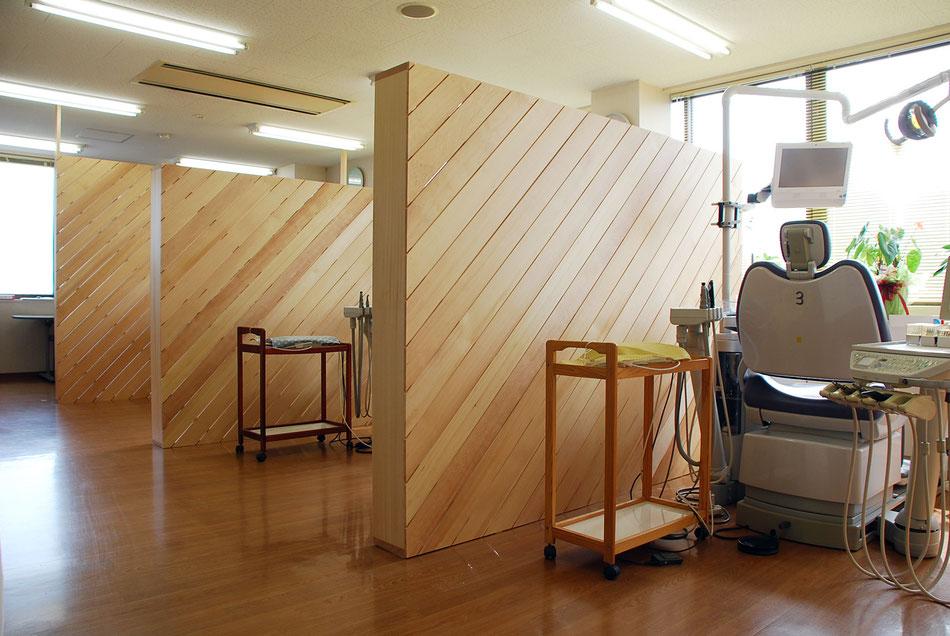 歯科の間仕切り 岡山の病院設計・岡山の建築設計事務所
