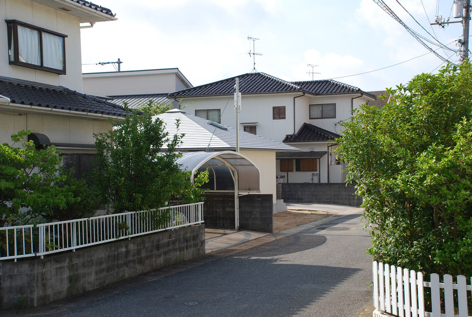 岡山の平屋の屋根