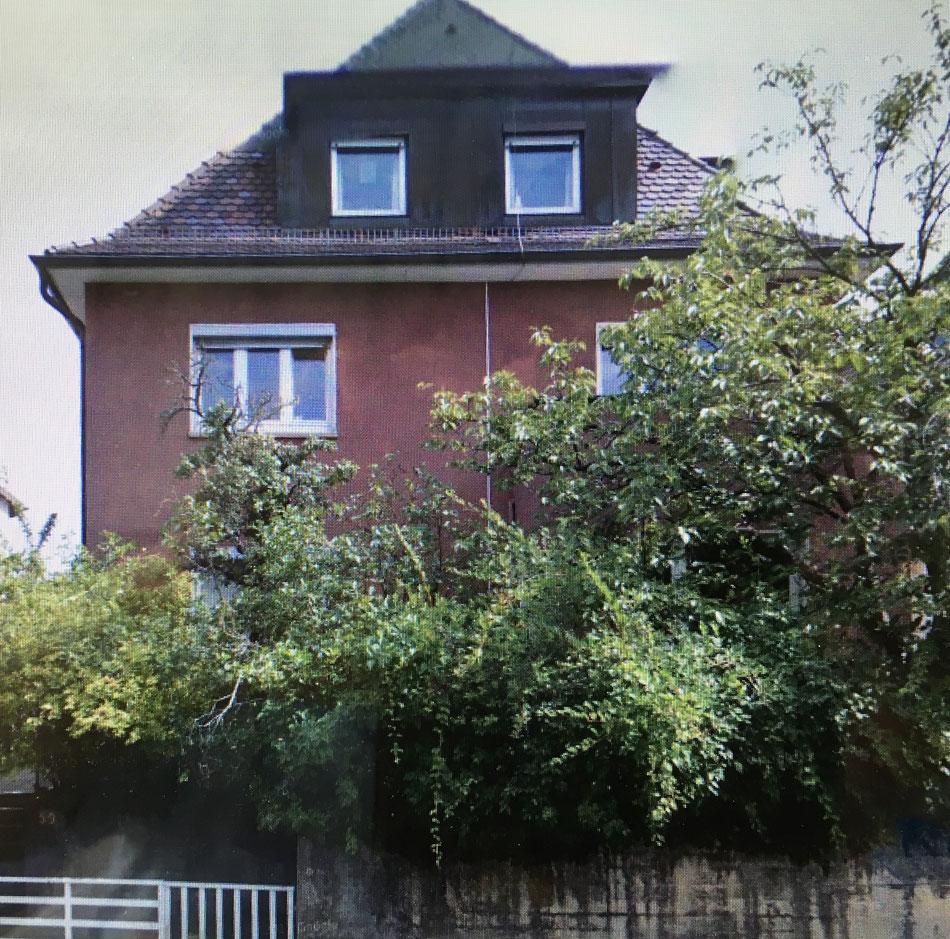 1934 erbautes Haus in Stuttgart vor der Kernsanierung 2009