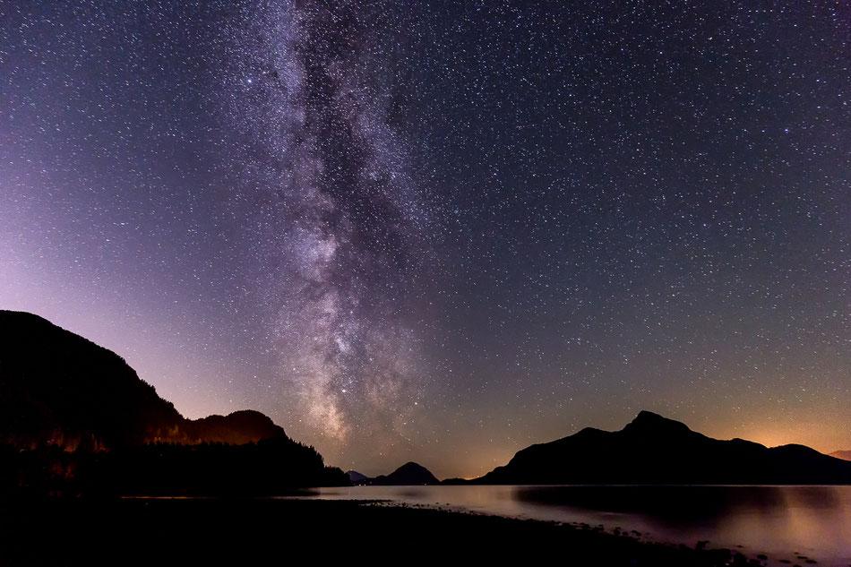 Melkweg boven de Howe Sound Vanvouver BC Canada