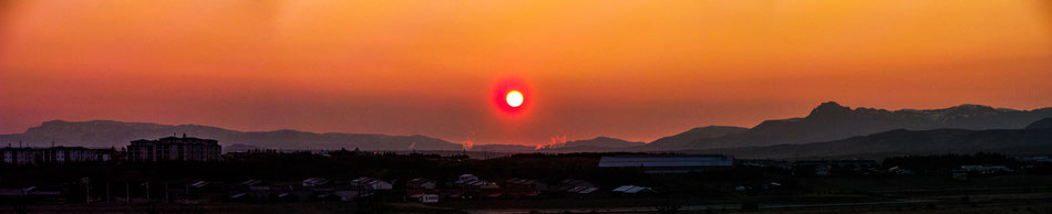 Der rote Sonnenaufgang am Fr., den 10.10.14 // The red sunrise at friday, the 10.10.14