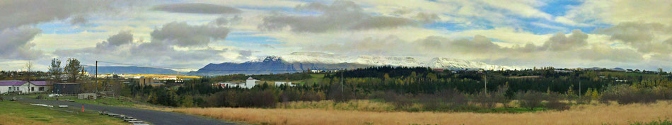 A snow covered Mt. Esja in the morning of this friday. Nice view, by the way.