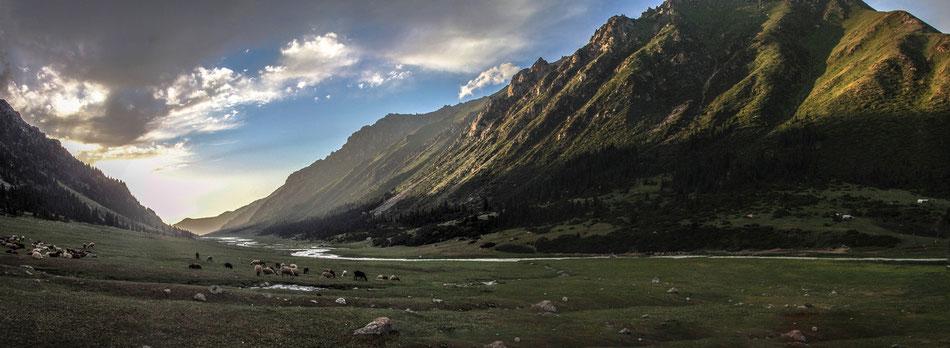 Stunning sun set in the Arashan valley.