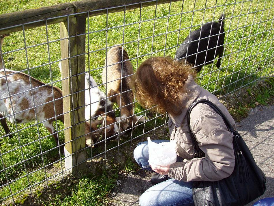 Edith beim füttern