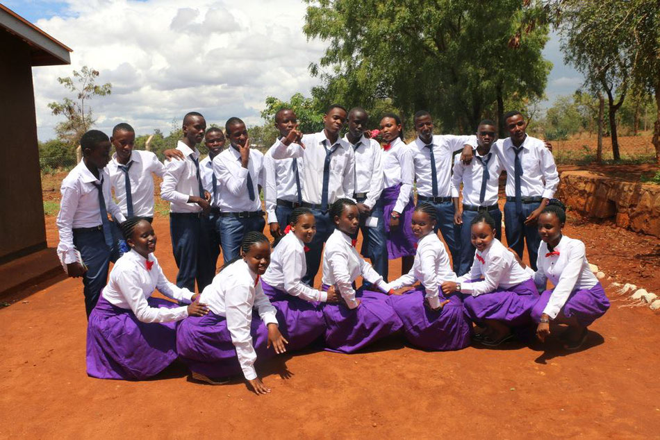 Form IV students at One World Secondary School Kilimanjaro at their graudation ceremony
