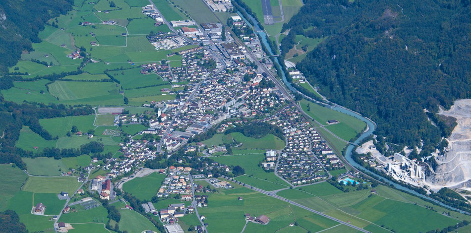 Netstal, vom Vorderglärnisch aus. Aufnahme vom 10. September 2011