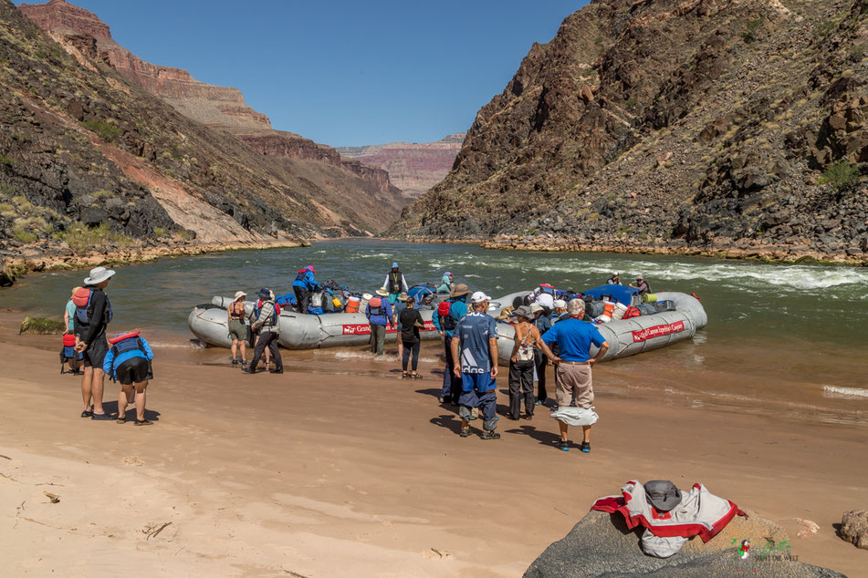 grand canyon, rafting, expedition, gcex, colorado, river, abenteuer, schlauchboot, landschaft, pause