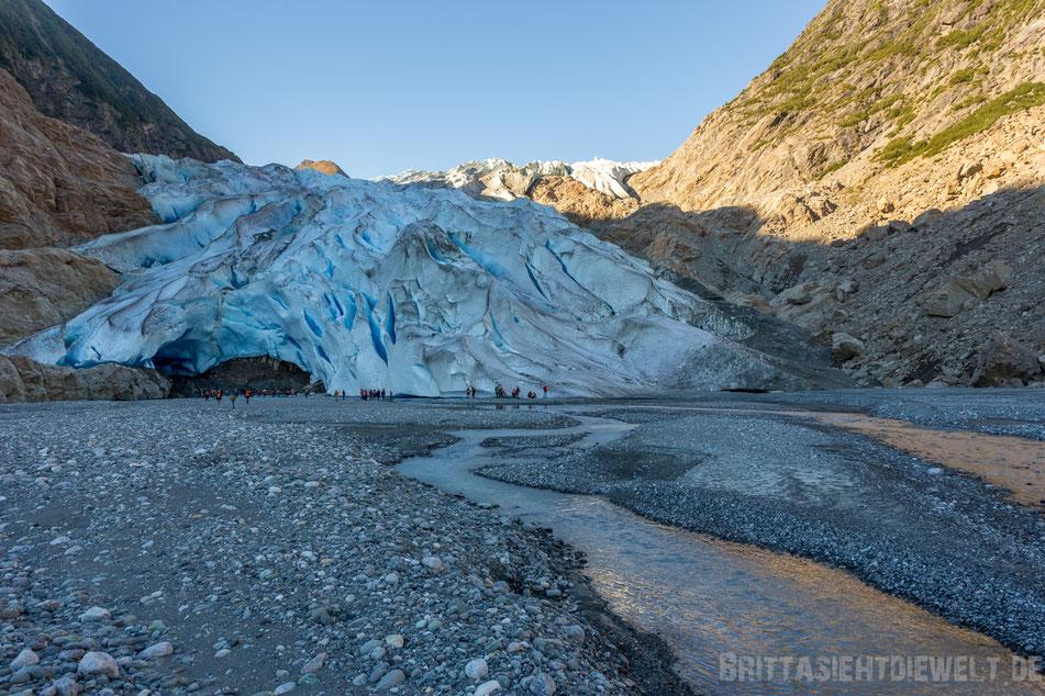 davidson, gletscher, ausflug, exkursion, alaska, skagway, kanufahrt