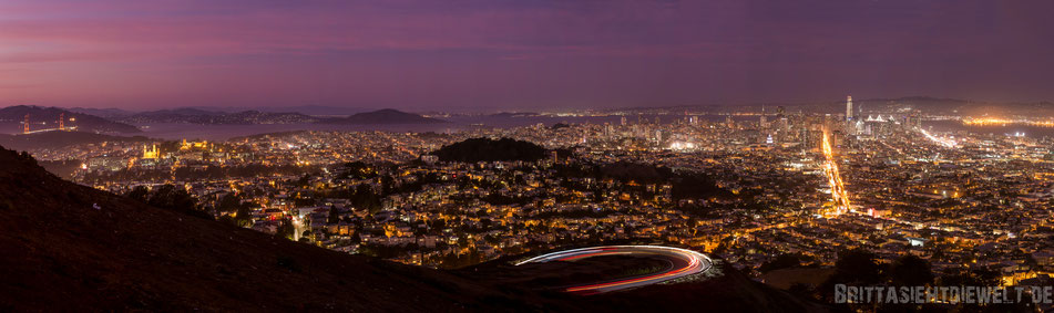 twin,peaks,san,francisco,view,sunset,night,night,lights,long,exposure,downtown,golden,gate,bridge,panorama