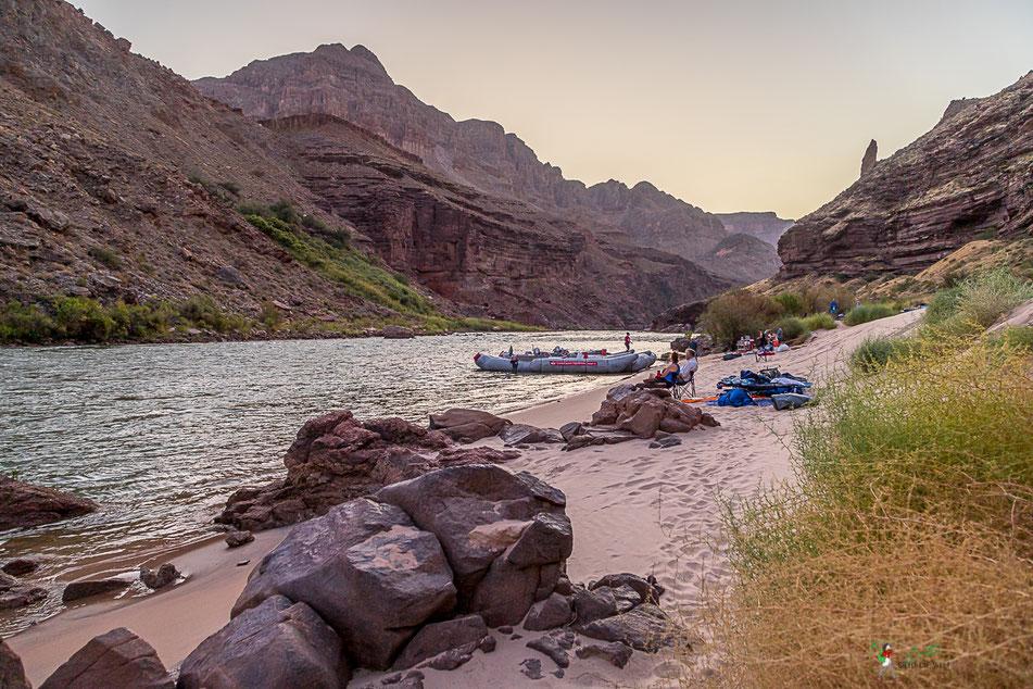 grand canyon, rafting, wildwasser, camp, schlauchboot, colorado, river,  usa, arizona