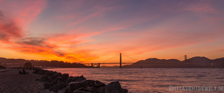 golden,gate,bridge,sunset,panorama,san,francisco,usa,seelöwen,rundreise,jucy,campervan,sehenswürdigkeit