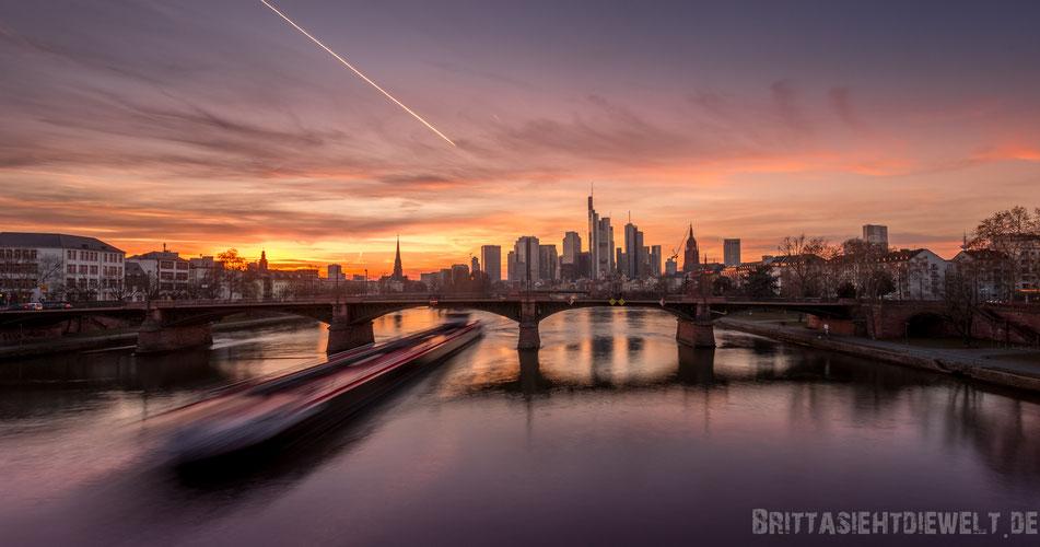 frankfurt, skyline, sonnenuntergang, fotografieren, aussichtspunkt, beste, fotostandorte, langzeitbelichtung