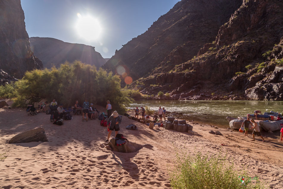 grand canyon, rafting, expedition, gcex, camp, trinity, creek, abenteuer, schlauchboot