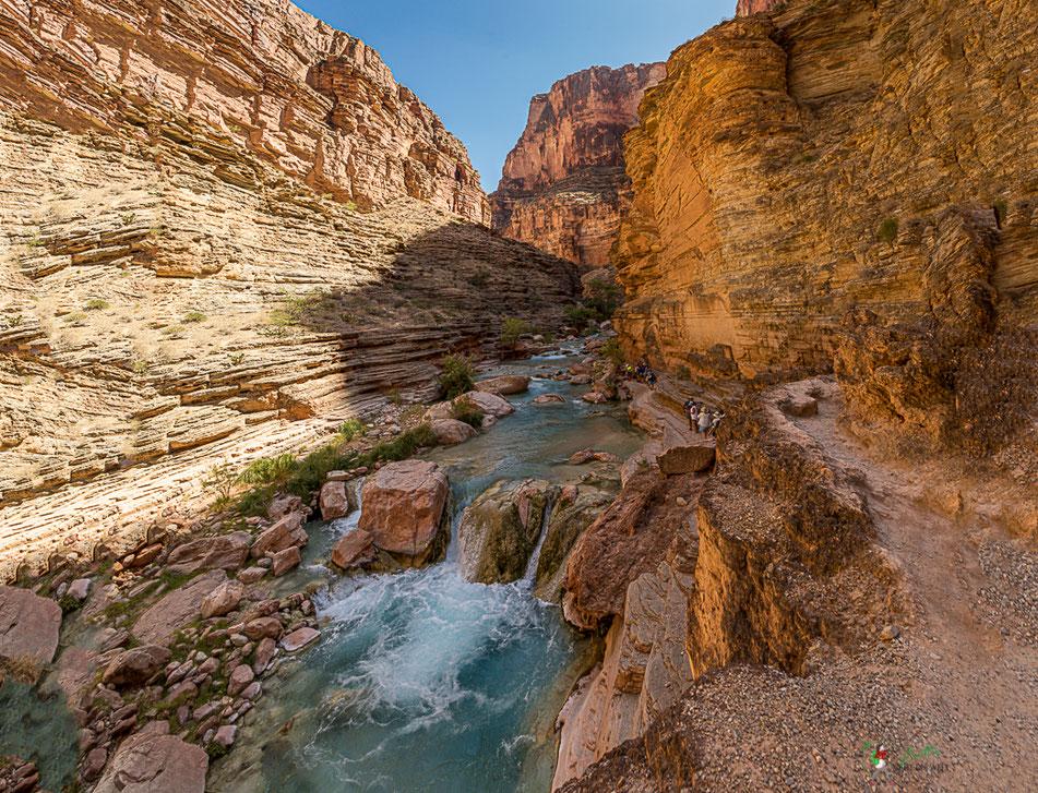 havasu, creek, grand canyon, natur, rafting, wildwasser, schlauchboot, colorado, river, usa, arizona