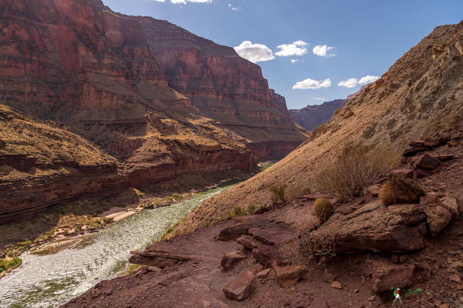 deer creek, aussicht, view, geologie, grand canyon, wanderung, hike, hiking, rafting, colorado, river, usa