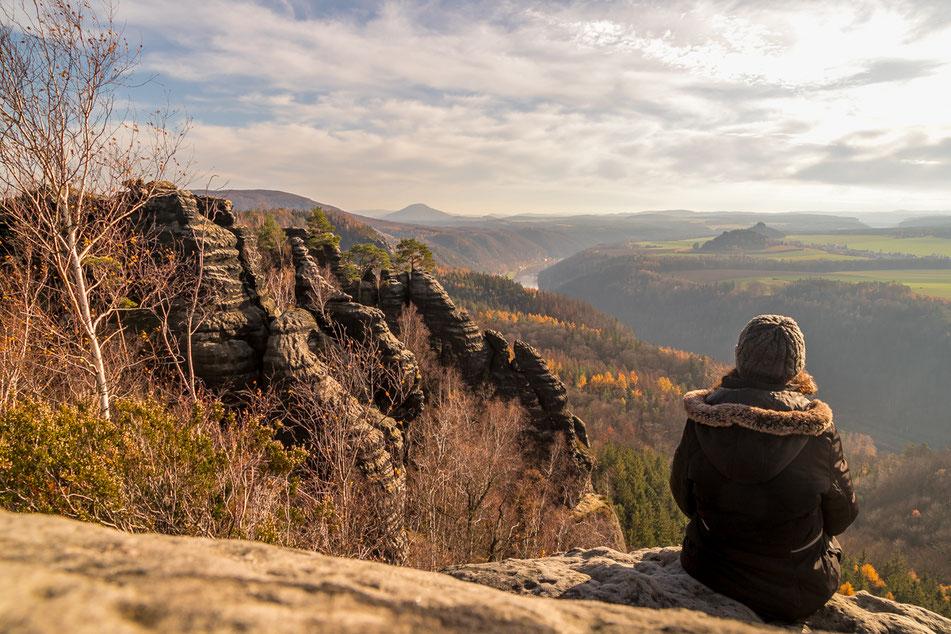 saechsische, schweiz, schrammsteine, gratwanderung, wanderung, elbsandsteingebirge, Bad Schandau, dresden, aussicht