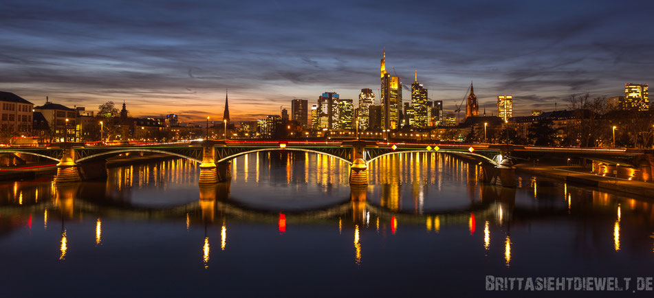 frankfurt, skyline, sonnenuntergang, fotografieren, aussichtspunkt, beste, fotostandorte, blauestunde