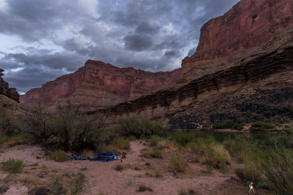 camp, übernachtung, grand canyon, map, karte, rafting, colorado, river, usa