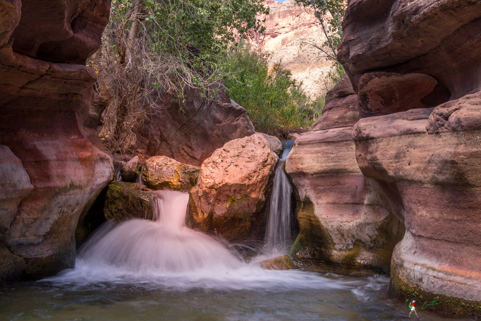 waterfall, upper deer creek, grand canyon, wanderung, hike, hiking, rafting, colorado, river, usa