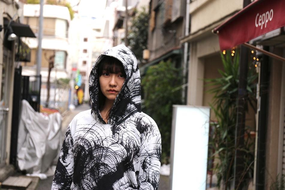 UGETSU PARKER         model:hazuki horikoshi