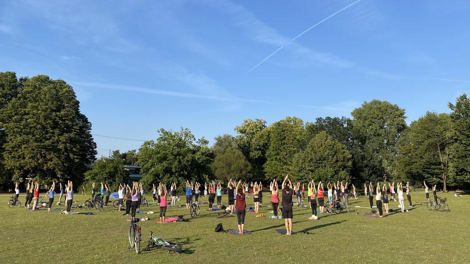 yoga bei sport im park