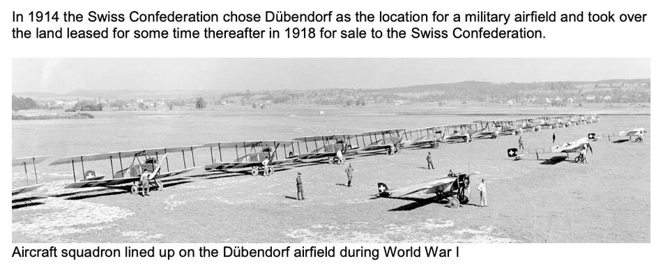 Flugplatz Dübendorf, Doppeldecker der Luftwaffe während des ersten Weltkrieges   Quelle: The 7 Most Endangered, Europanostra