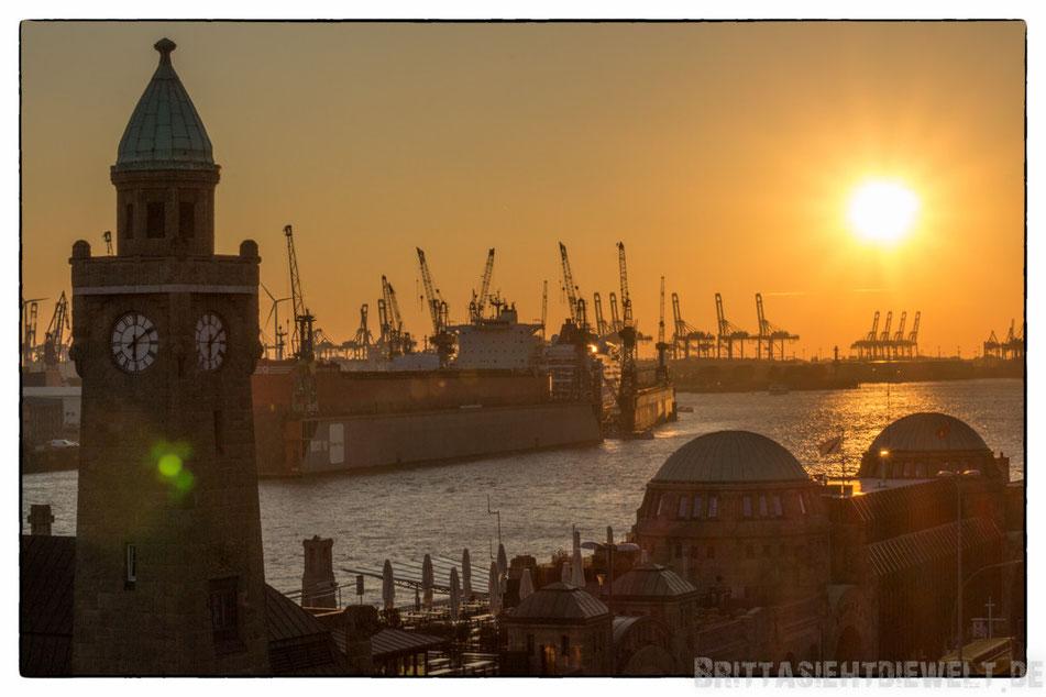 Hamburg, Aussicht, Aussichtspunkt, Tipp, Sonnenuntergang, Elbe, Hafen