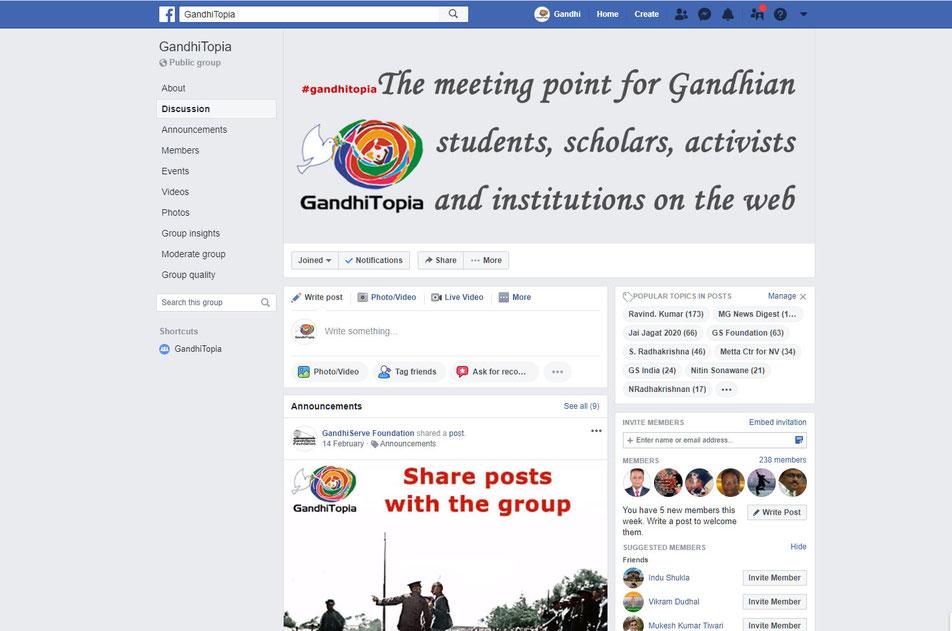 GandhiTopia - Mahatma Gandhi Community Forum