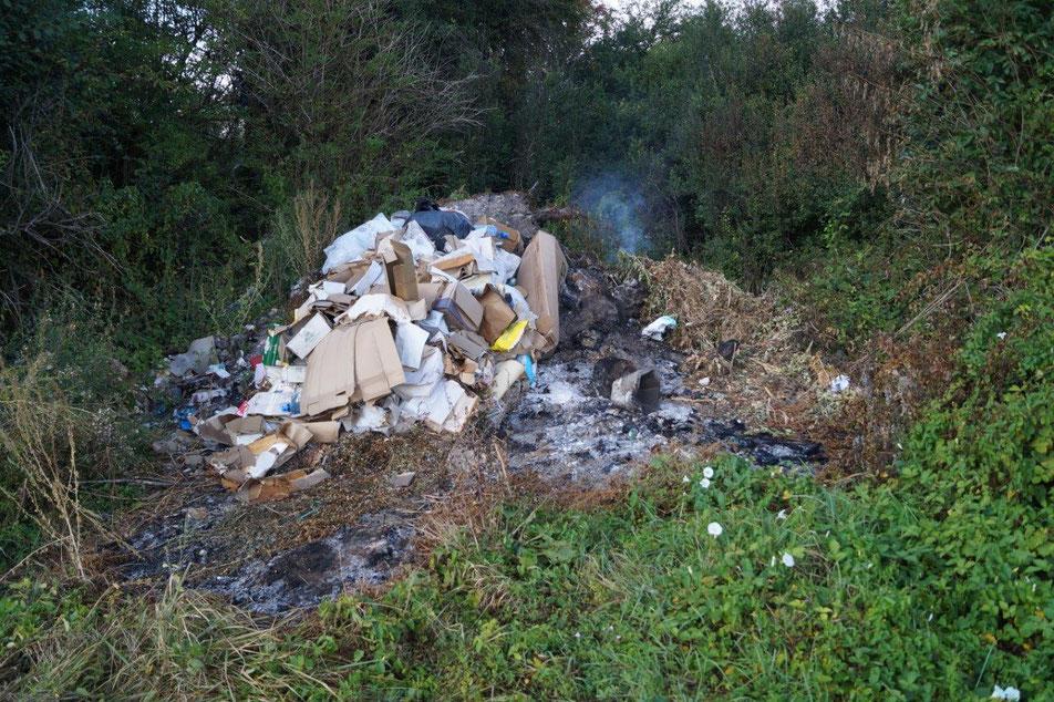 Sud de l'Aisne : un centre d'incinération de déchets sauvage près d'un parcours de randonnée bucolique.