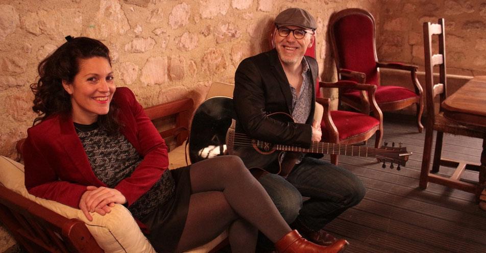 De gauche à droite : Le duo Wiliwaw : Camille Bancel et Jean-Philippe Mary.