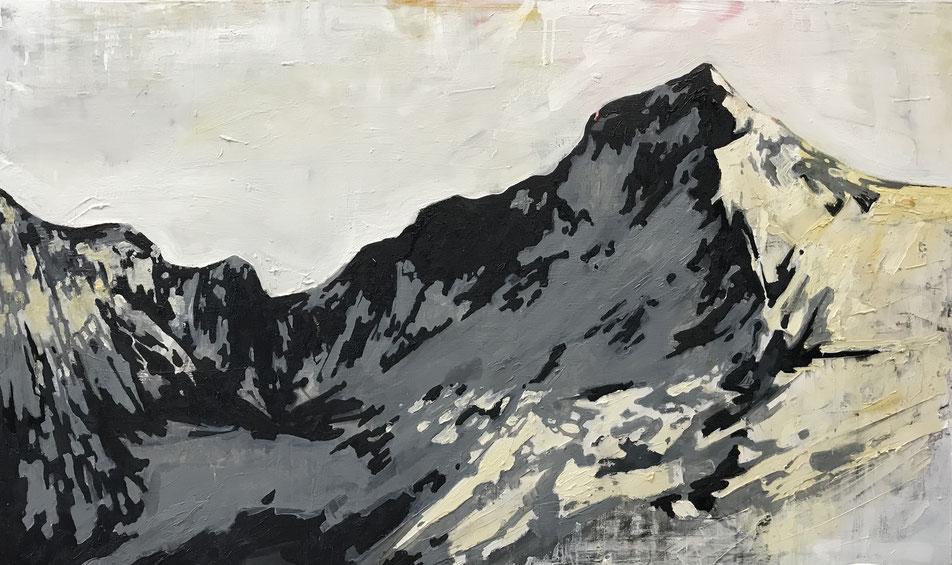 """""""Gebirge 5"""" 160cm - 100cm Öl auf Leinwand"""