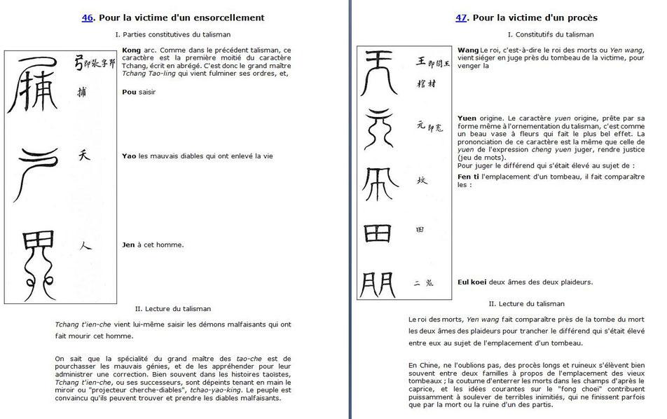 Le procédé pour l'explication des talismans.