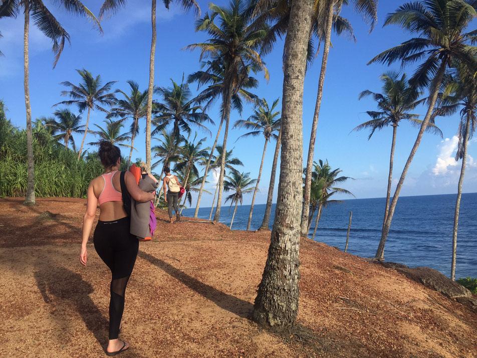 Yoga face à l'océan à Mirissa