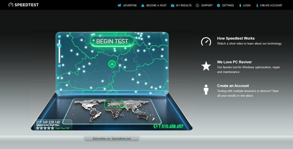 internetschwindigkeitstest