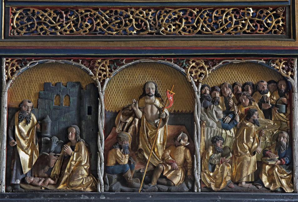 Die Staffel des Altaraufsatzes