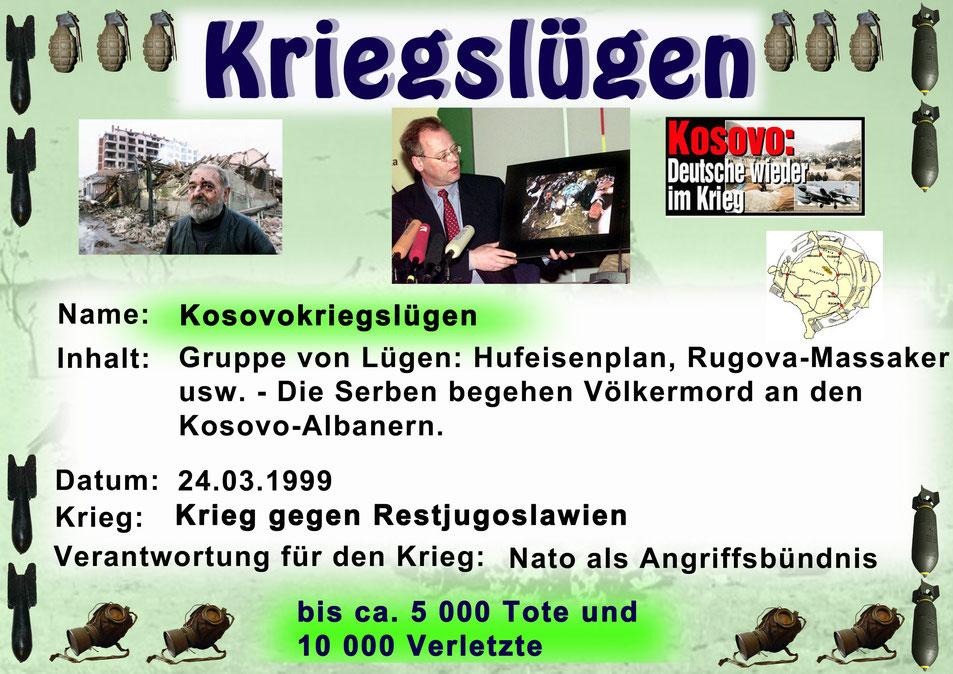 Kriegslügen - Die Kosovokriegslügen