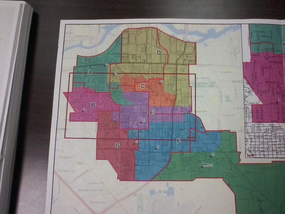 Pasadena, TX council member boundaries map.