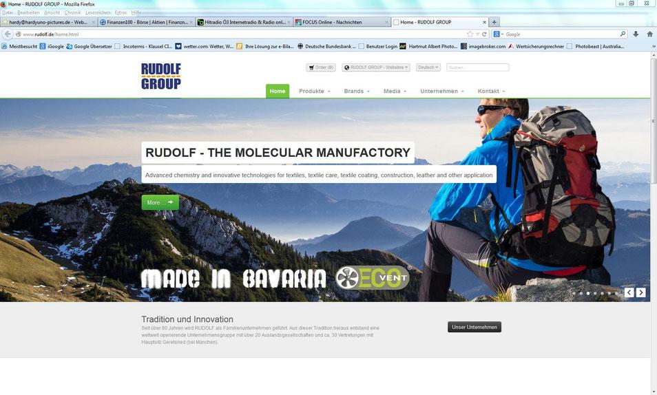 Firmenwebsite Rudolf GmbH