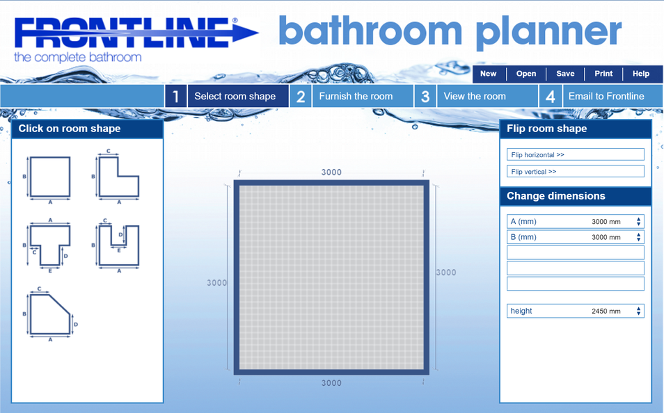 Brilliant Saninet Online Bathroom Planner For Consumers Proplanet Largest Home Design Picture Inspirations Pitcheantrous