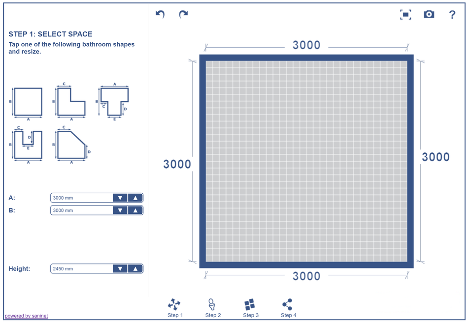 SaniNet i-Design 3d online bathroom planner in general design