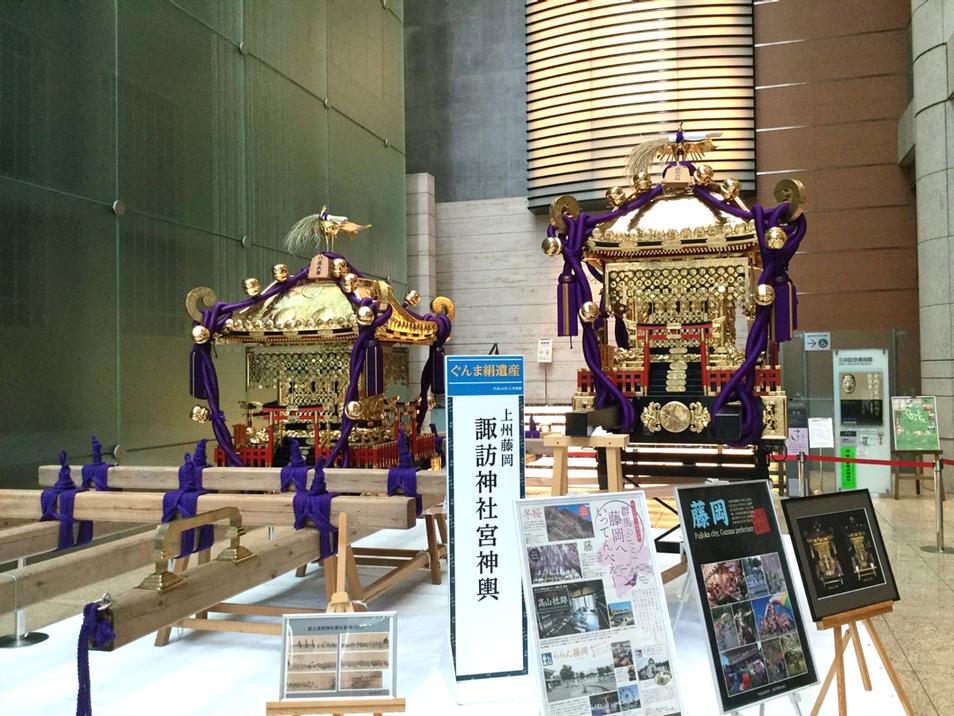 上州藤岡諏訪神社の「宮神輿」(藤岡市指定文化財) ※平成30年(2018年)7月7~8日、本橋の三井タワーで展示されました。
